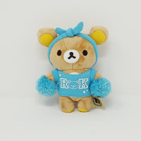 2015 Rilakkuma Blue Outfit Cheerleader Plush Keychain - Colorful Rilakkuma Theme