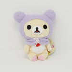 2018 Korilakkuma with Fuzzy Purple Hat Plush - Rilakkuma