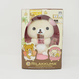2018 Korilakkuma eating Chocolate in Pink Chair Box Set - Rilakkuma Chocolate and Coffee Theme