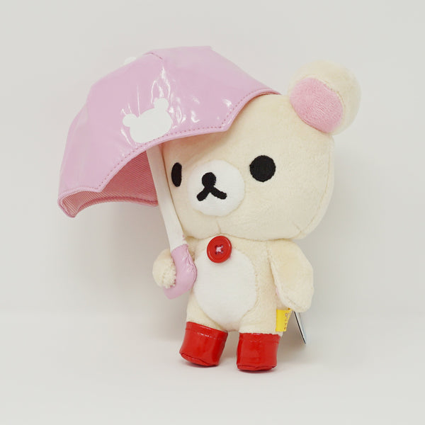 Korilakkuma with Pink Umbrella Plush
