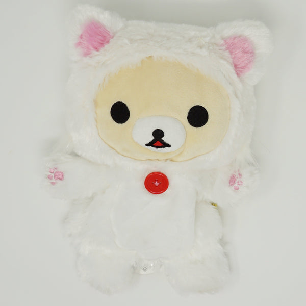 2016 Korilakkuma White Cat Prize Toy Plush Puppet - Rilakkuma Relaxing Cat Theme