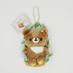 2019 Chairoikoguma on Floral Swing Plush Keychain - Korilakkuma meets Chairoikoguma
