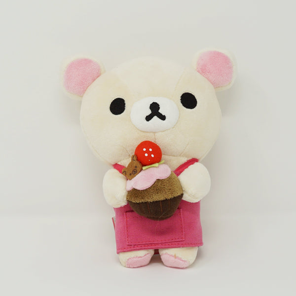 2011 Korilakkuma with Strawberry Cake Plush - Chocolate & Coffee Rilakkuma