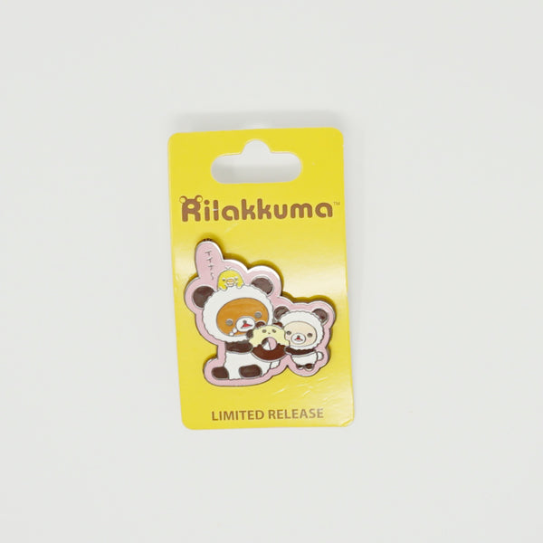 Rilakkuma Panda with Doughnut Limited Edition Pin - Limited Edition