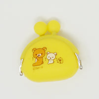Yellow Mini Silicon Pouch - Rilakkuma Prize Goods