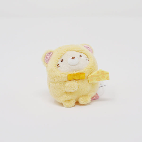 Neko in Mouse Outfit with Cheese Tenori Plush - 2020 Year of the Mouse - Sumikkogurashi