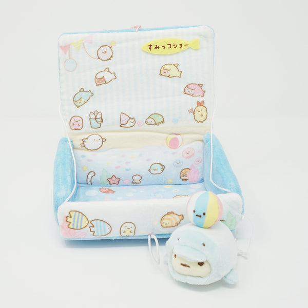 2019 Limited Beach Playset Book Plush Set - Sumikko Sea Theme - Sumikkogurashi Collection