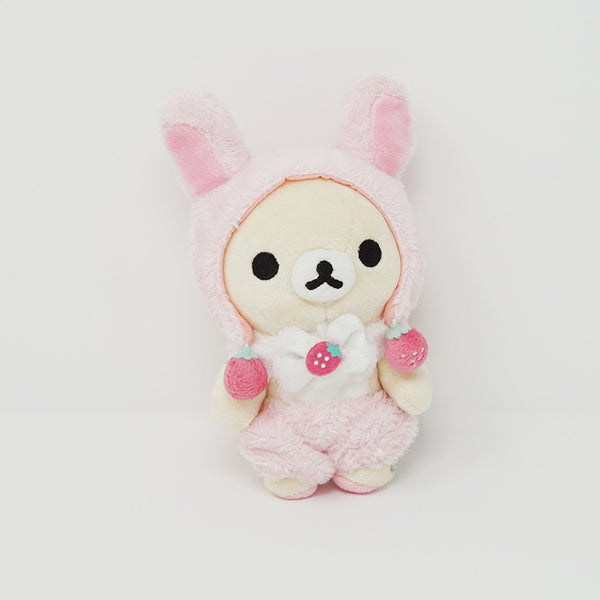 2015 Korilakkuma with Bunny Ears and Strawberries Plush - Everyone is a Strawberry Rilakkuma