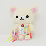 2010 Korilakkuma with Rainbow Paint Bucket 7th Anniversary Plush - Happy Rainbow Theme Rilakkuma Store Limited