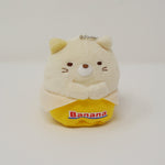 Banana Neko Prize Plush Keychain - Sumikkogurashi Fruits Design