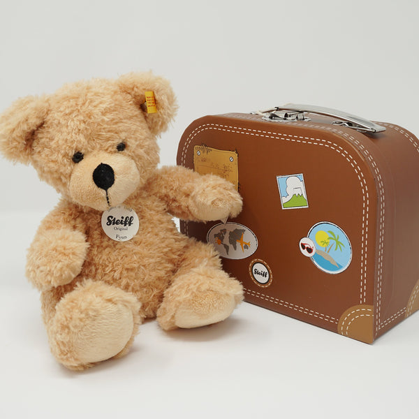 Fynn Teddy Bear Brown Suitcase Set Plush - Steiff