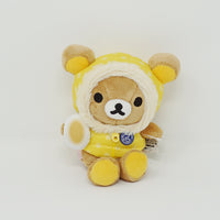 2014 Rilakkuma in Yellow Coat Plush - Sendai Rilakkuma Store 2nd Anniversary Limited