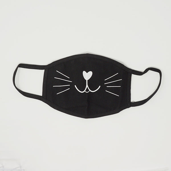 Black Cat Cotton Mask  - Daiso