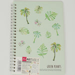 Green Plants Summer Foliage A5 Ruled Notebook  - Daiso