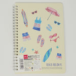 Beach Holidays A5 Ruled Notebook  - Daiso
