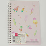 Sweet Party Summer Ice Cream A5 Ruled Notebook  - Daiso