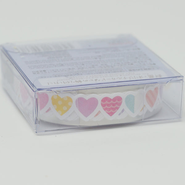 Hearts Paper Ribbon Sticker Tape  - Daiso