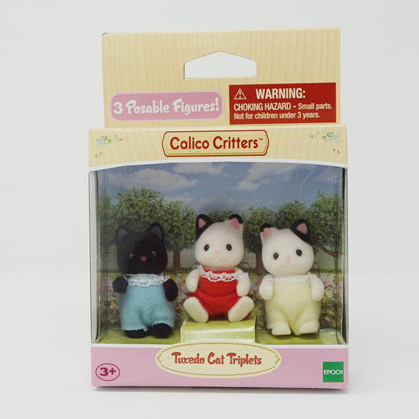 Tuxedo Cat Triplets  - Calico Critters