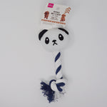 Panda Pet Toy Animal Rope Plush  - Daiso