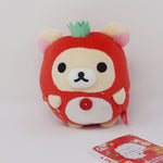 2019 Korilakkuma Round Pouch Prize Plush Toy - Rilakkuma Strawberry Party