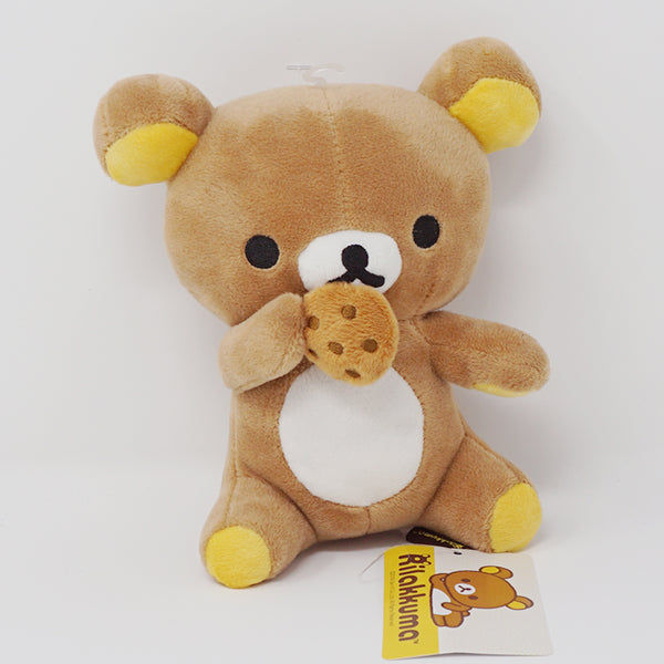 "Rilakkuma Eating Cookie Biscuit 6.5"" Plush - San-X"