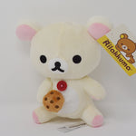 "Korilakkuma Eating Cookie Biscuit 6.5"" Plush"