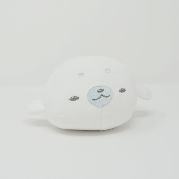 White Sleeping Seal  (Marine Animals Series) Mochi Mochi Stacking Plush - Yell