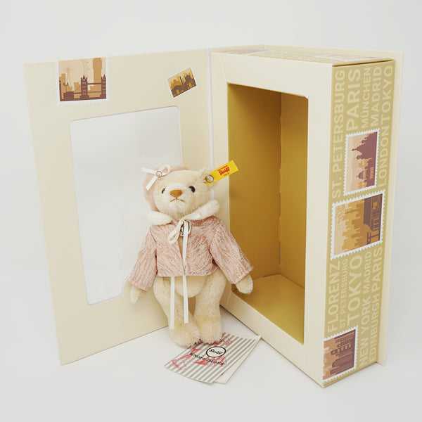 Great Escapes Paris Beret Teddy Bear Blond Box Set - Steiff Classic