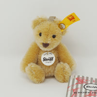 Mini Teddy Bear Blonde Wheat Pendant Keychain - Steiff Classic