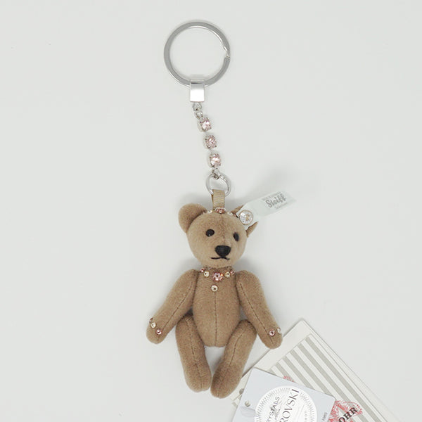 Brown Teddy Bear Swarovski Keychain - Steiff Selection