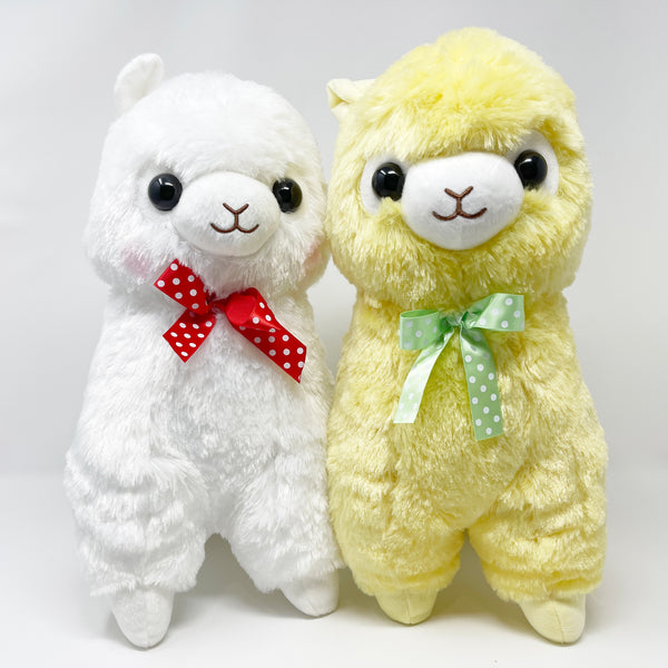 SET DEAL Amuse Yellow & White Alpacasso Alpaca Big Plush