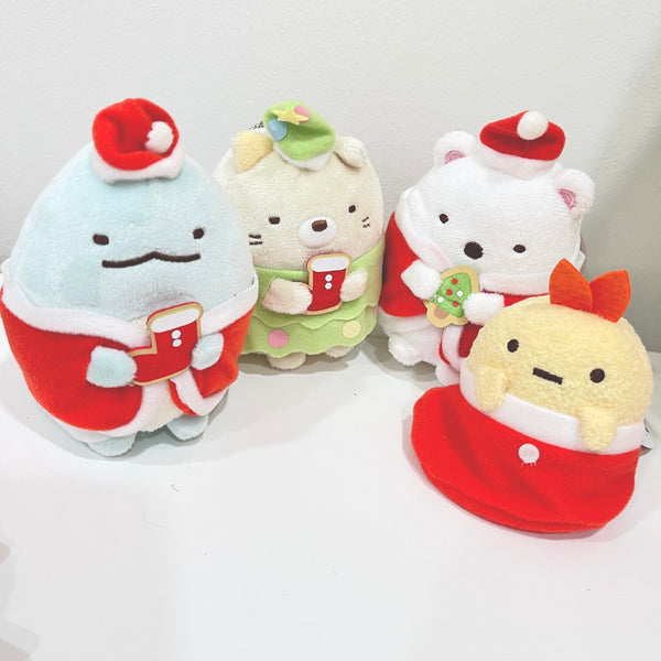 SET DEAL Santa Plush Keychain Set - Sumikkogurashi Christmas