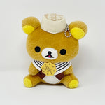 Brown Biscuit Cape Sitting Rilakkuma Prize Toy Plush Keychain