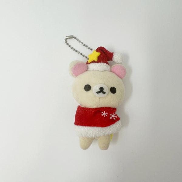 Korilakkuma with Red Cape and Yellow Star Hat Prize Toy Plush Keychain - Christmas