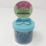 Paper Clips & Case - Blue