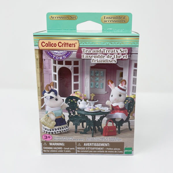 Tea & Treats Set with Patio & Chairs Furniture - Calico Critters - Town Theme