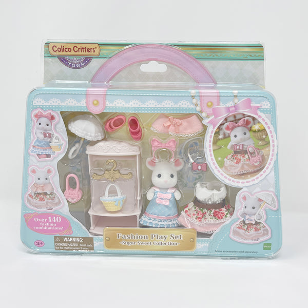Sugar Sweet Collection Fashion Play Set Marshmallow Mouse - Calico Critters - Town Theme