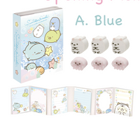 Opening Memo A. Blue with Shirokuma Erasers - Sumikko Sea