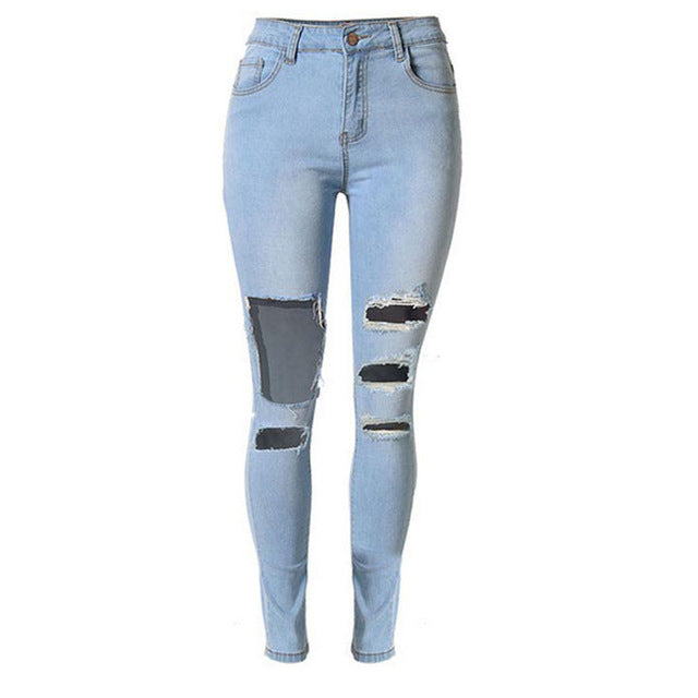 Stretchy Ripped Skinny Jeans also in Plus Size