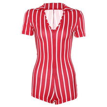 Load image into Gallery viewer, Striped Cheeky Romper