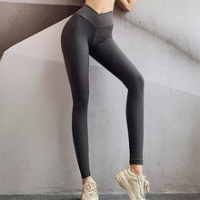 Load image into Gallery viewer, High Waist Textured Spandex Leggings