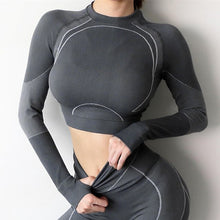 Load image into Gallery viewer, Long Sleeve Fitness Sports wear