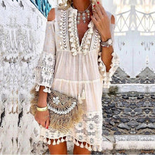 Load image into Gallery viewer, Summer Tassel Boho Dress