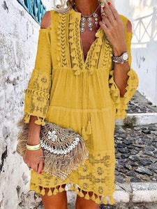 Summer Tassel Boho Dress