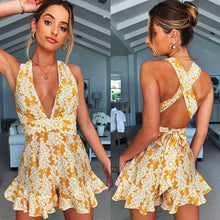 Load image into Gallery viewer, Sleeveless Floral Romper