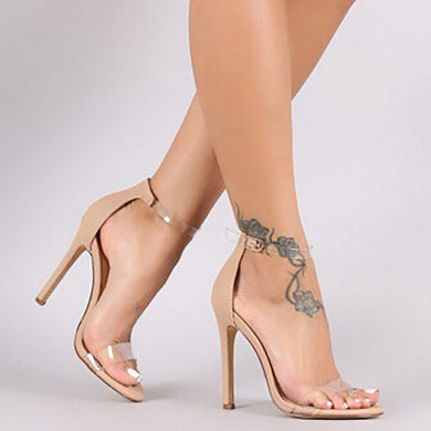 Clear Strap Stiletto Heels