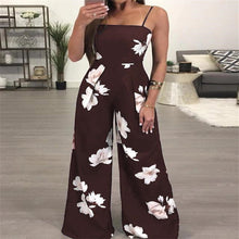 Load image into Gallery viewer, Floral Print Sleeveless Fashion Jumpsuit