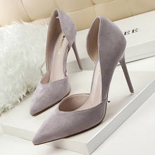 Load image into Gallery viewer, Suede Pointed Toe Heels