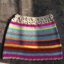 Load image into Gallery viewer, Rainbow Crochet Mini Skirt