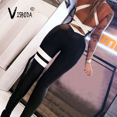 Fitness Backless Jumpsuit